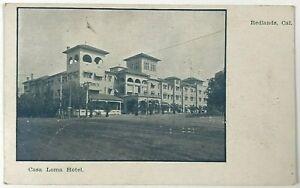 Postcard Redlands CA Casa Loma Hotel Street View Balloon Route 1900's Undivided