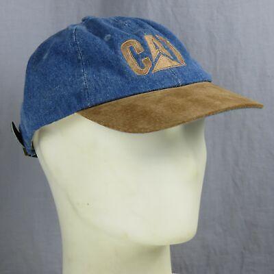 Serio Caterpillar Inc Cashman Jeans Pelle Slideback Baseball Cappello Gatto Tappo Beneficiale Per Lo Sperma
