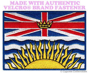BRITISH-COLUMBIA-FLAG-PATCH-CANADA-BC-CANADIAN-w-VELCRO-Brand-Fastener