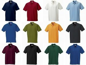 6517b1eb NEW MENS RUSSELL SOFT CLASSIC POLO SHIRT WORKWEAR WORK TOP QUALITY ...