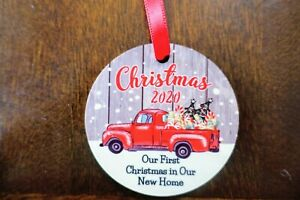 2020 Christmas Ornament 2020 Red Truck Christmas Ornament