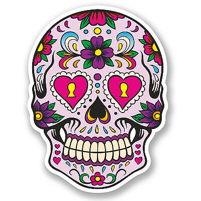 Sugar Skull day of the dead sticker vinyl decal n48-2