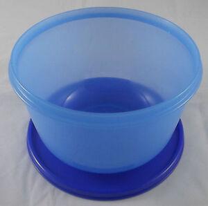 Tupperware-Clarissa-Schuessel-2-l-mit-Deckel-Blau-Dunkelblau-Neu-OVP