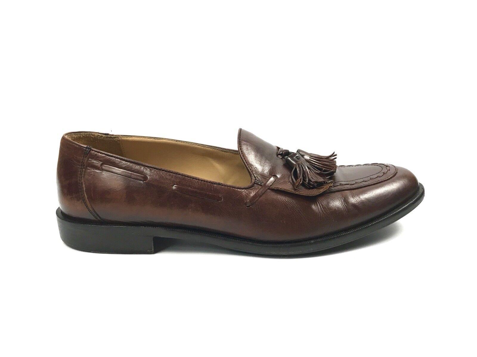 Johnston Murphy marrone Size Pelle Tassel Loafers Handcrafted scarpe Size marrone   9cb965