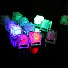 12x Flash ICE CUBE a LED luminosi colore in acqua nightlight Festa Wedding Decor UK
