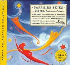 SAPPHIRE SKIES, with Alpha Brainwave Pulses . CD .. NEW