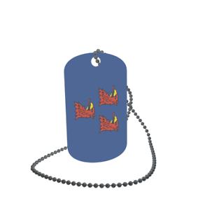 Dog Tag Flagge Fahne Pasewalk Erkennungsmarke Alu 30 x 50 mm