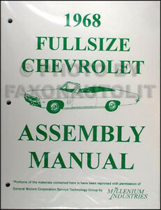 1968 Chevy BOUND Assembly Manual 68 Impala Caprice Bel Air Chevrolet Factory