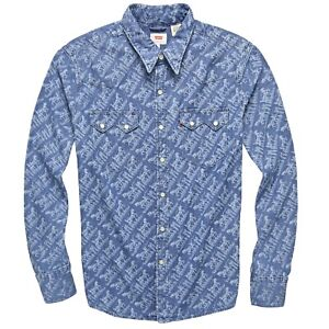 Levi-039-s-Men-039-s-Classic-Casual-Denim-Printed-Sawtooth-Western-Shirt