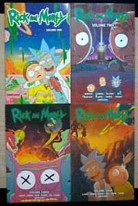 Rick-and-Morty-1-4-Lot-of-4-Graphic-Novels-English-Dan-Harmon