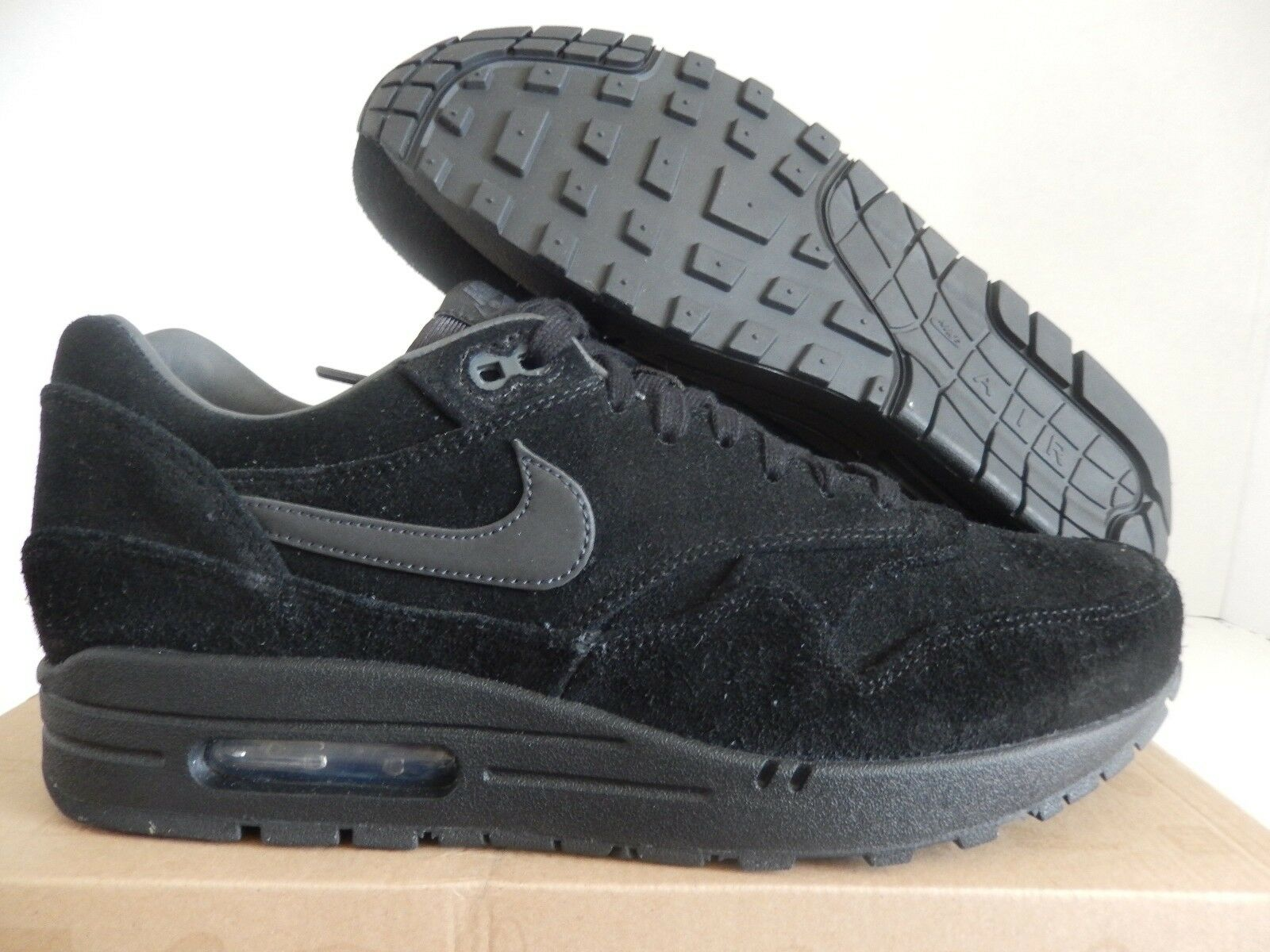 NIKE AIR MAX 1 PRM PREMIUM BLACK-ANTHRACITE-ANTHRACITE SZ 10.5 [512033-011]