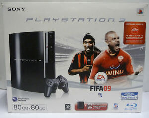 CONSOLE-SONY-PLAYSTATION-3-80-GB-LIMITED-FIFA-2009-EDITION-CECHK04-BOXED-PAL
