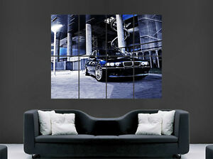black bmw 740 e38 classic car poster sports print wall art image