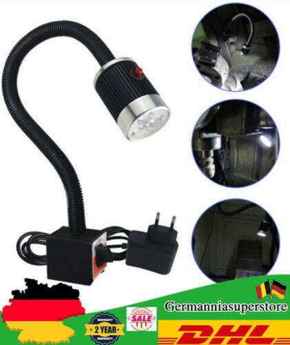 6W 3 LEDS CNC Arbeitsleuchte Kaltlicht Magnetische Maschinenlampe Schwanenhals
