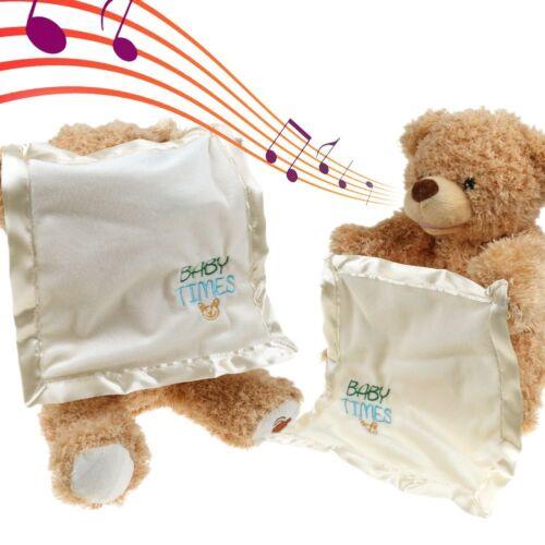 Teddy Bear Peek a Boo Play Hide And Seek Soft Brown Christmas Gift Cute
