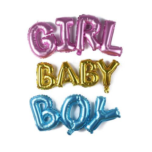 Home Party Decor garçon fille bébé connexion lettre feuille gonflable ballons