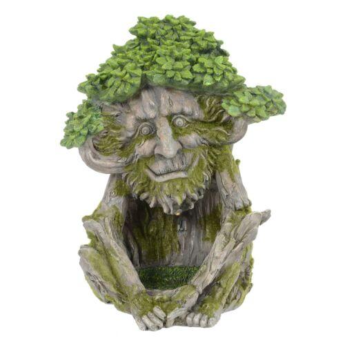Azuma Solar Garden Ornament Tree Character Man Face Resin LED Decoration 29cm