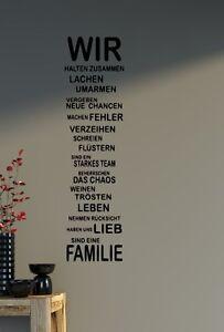 Details about Wandtattoo Spruch - Familie Haus Liebe Sprüche Wohnzimmer  Aufkleber 60x19cm B302