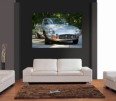 CLASSIC JAGUAR XKE CONVERTIBLE CAR Giant Wall Art Print Picture Poster