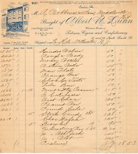 July 24, 1903 Albert R Dunn Tobacco Cigars and Fine Confection paper invoice
