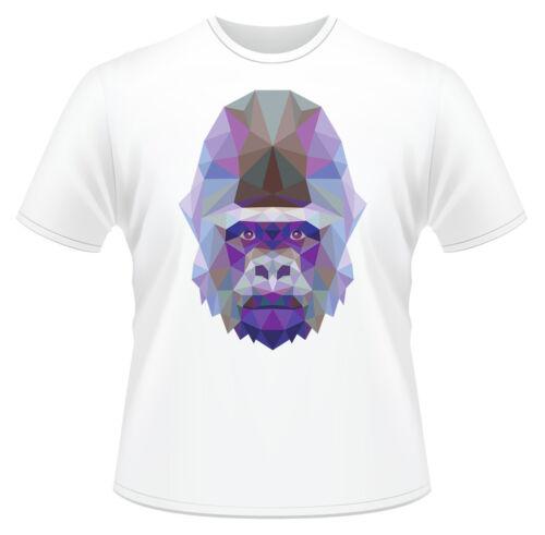 REGALO GORILLA HEAD triangolo modello T-Shirt Ragazzi Ragazze Bambini Età 3-13 Regalo Ideale