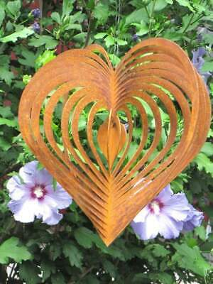 Edelrost Windspiel Schmetterling 3D Spirale Windspirale Metall Gartendeko Deko
