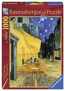 Dettagli Su Puzzle Ravensburger 1000 Pz Van Gogh Terrazza Del Caffe La Sera 70x50 Art 15373