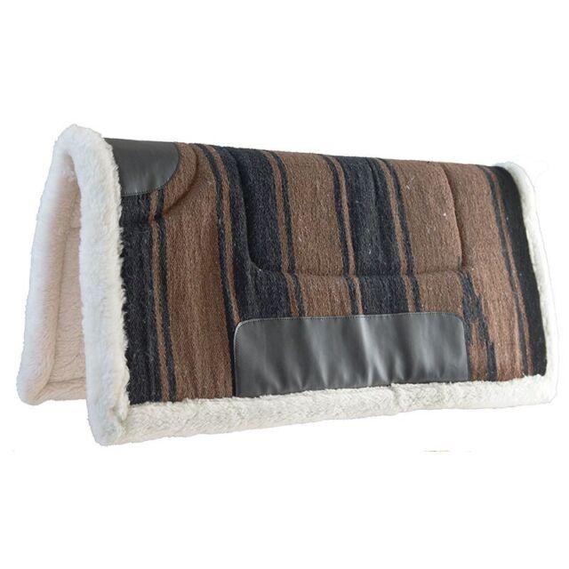 Mustang Solid Navajo Wool Pad Westernpad türkis Wolle Fleece Plüsch