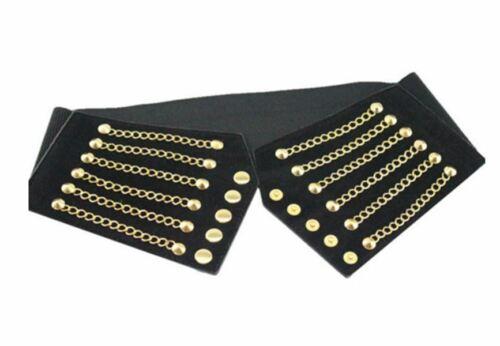 Women Tassel Rivet Wide Elastic Buckle Belt Corset Girdle Zipped Waistband