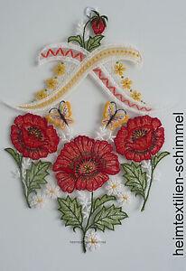 Plauener Dentelle ® Fensterbild Printemps Fensterdeko Mohnblumen Fleurs D'été-afficher Le Titre D'origine Quell Summer Soif