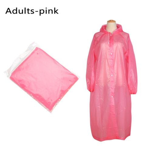 Emergency Hiking Kids//Adult  Outdoor Poncho Rainwear Rain Gear Rain Coat