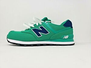 sports shoes e9db8 c9beb Image is loading NEW-BALANCE-MENS-ML574POG-CLASSIC-RUNNING-SHOE-GREEN-