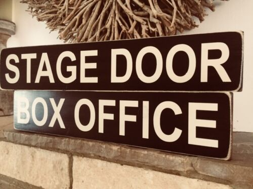 Stage Door Sign Vintage Theatre Show Cinema Old Wooden Musical Film Box Office
