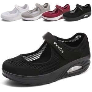 Women-Running-Sneakers-Breathable-Mesh-Walking-Slip-On-Casual-Air-Cushion-Shoes