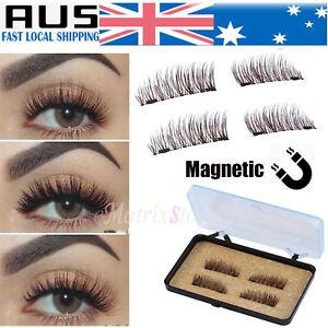 2e9020afa4f Image is loading 2-Pairs-Magnetic-Eyelashes-3D-Handmade-Mink-Reusable-