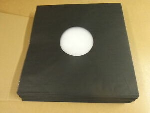 100-DELUXE-POLYLINED-ANTISTATIC-PAPER-LP-INNER-SLEEVES-BLACK-FOR-12-034-RECORDS