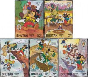 kompl.ausg. Postfrisch 1985 Walt Disney Figuren For Sale Qualified Bhutan 947-951