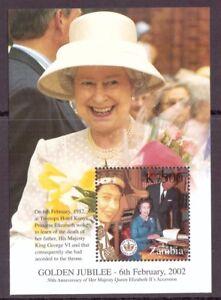 Sambia MiNr. Block 100 postfrisch MNH Queen Elizabeth (OZ1855