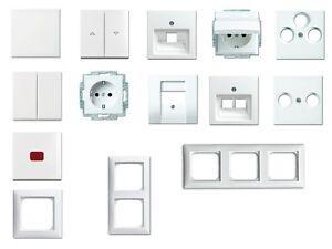 busch jaeger balance si 914 alpinweiss steckdosen schalter rahmen neu ebay. Black Bedroom Furniture Sets. Home Design Ideas