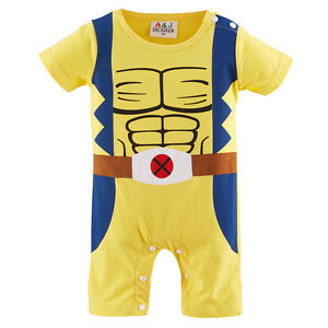 20cc79a8e178 Baby Boy Wolverine Costume Romper Infant X-Men Playsuit Newborn ...