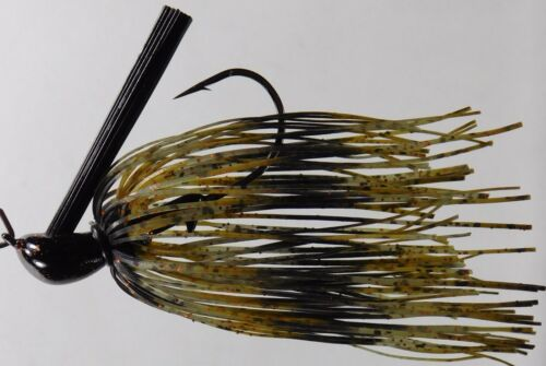 B4B Heavy Wire 44 Strand Skirted DC Arky Jig w//Mustad Hook Green Pumpkin  Colors
