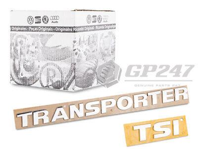 Amichevole 2 Pz. Nuovo Originale Volkswagen Vw Transporter T5 T6 Scritta Emblema + Sti Logo- Alta Sicurezza
