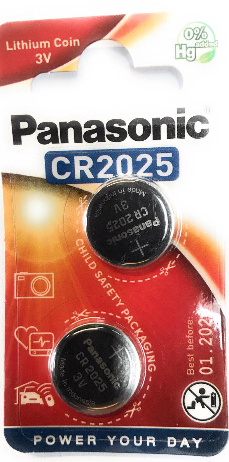 24 x Panasonic CR 2025 3V 4 x 6er Blister Batterie Lithium Knopfzelle 165mAh