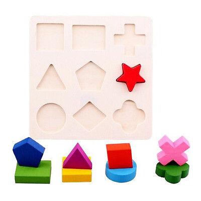 Hot Children Baby Kid Wooden Building Blocks Preschool Educational Geometric Toy