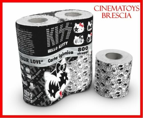 KISS GENE SIMMONS E HELLO KITTY CARTA IGIENICA TOILET PAPER LIMITED COLLECTOR
