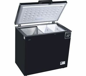 LOGIK L200CFB17 Chest Freezer - Black - 199L Capacity ...