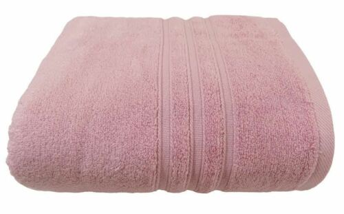 10 X HOTEL HOSPITALITY PINK ZERO TWIST COTTON 600 GSM BATH SHEET TOWELS 90X140CM