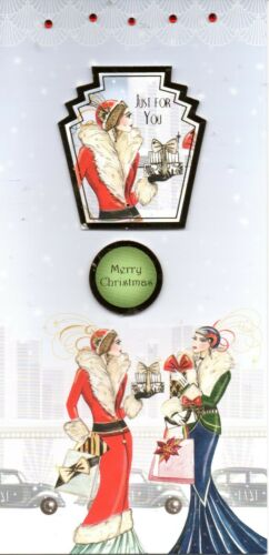 Xmas Tree Handmade Cocktails Art Deco Christmas Ladies and Couples Cards