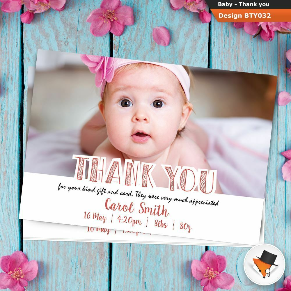 Personalised New Baby Birth Announcement Postcards & Envelopes Photo