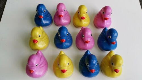 36 Multi-Colored Weighted Floating Ducks Plastic Carnival Pond Birthday Party